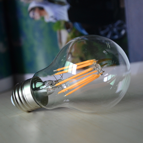 Lightsaber Dimmable E27 LED Filament Light Glass Blub Lamps 220V 8W Dimming High Brightness 360 Degree Candle Retro Lighting