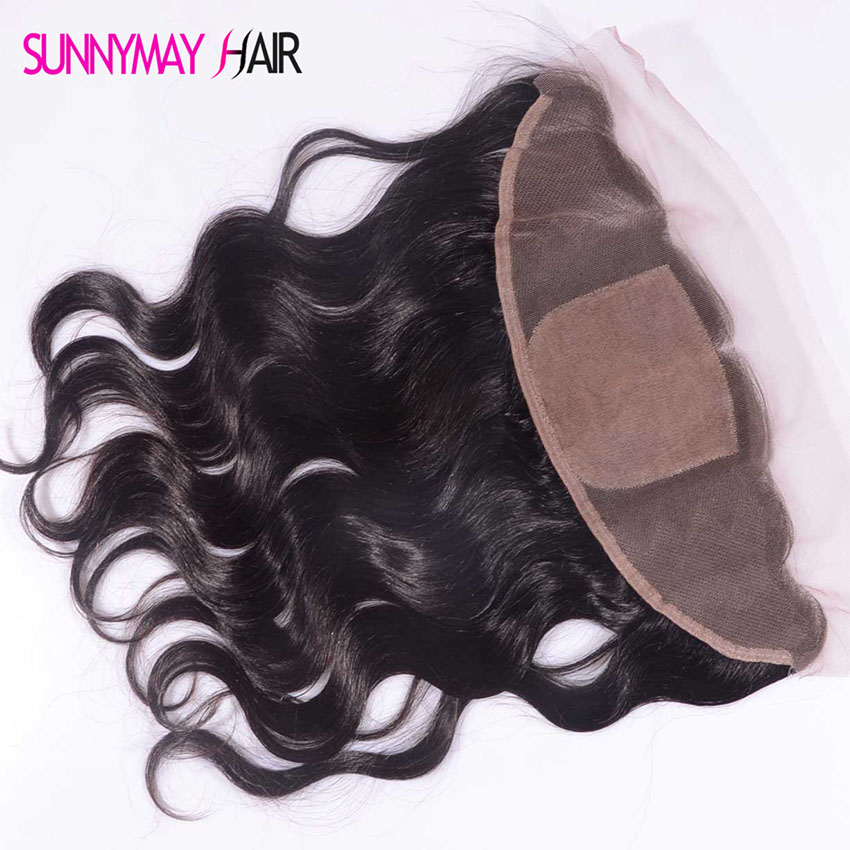 Best 8 A Grade Brazilian Virgin Hair Silk Top Lace frontal Closure Body Wave 13x4 Silk Base Frontal Closure In Stcok