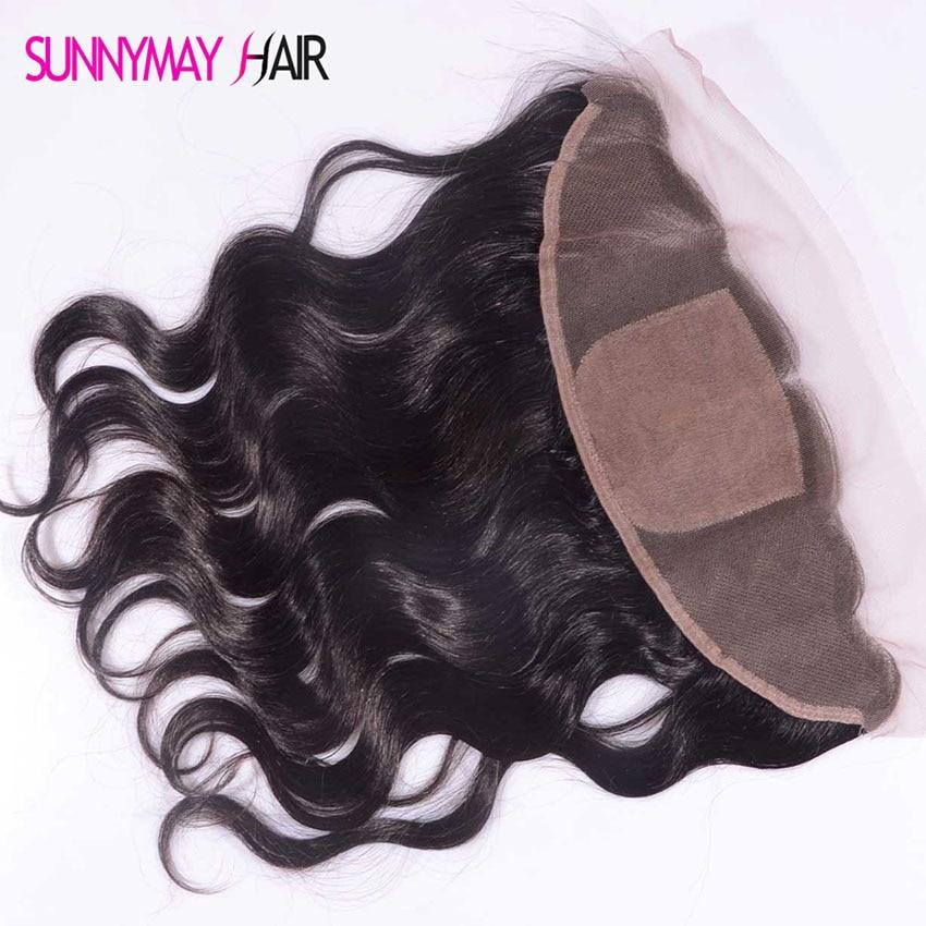 Best 8 A Grade Brazilian Virgin Hair Silk Top Lace frontal Closure Body Wave 13x4 Silk Base Frontal Closure In Stcok