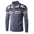 Nueva moda casual para hombre Otoño invierno suéteres gruesos de lana de manga larga Botton hombres suéter chaqueta de punto casual suéter outwear