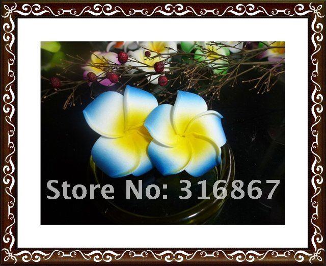 100X fuschia Plumeria Цветы для невесты Гавайское мыло ФРАНЖИПАНИ Свадебные цветы Декор 4,5 см без зажима