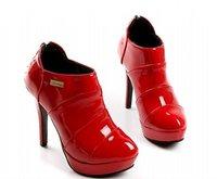 топ популярные мода женщин должны быть красный патент на платформе туфли на блок свадьба привет кабель / размер 34 - 42 / бесплатная прямая поставка! gf193