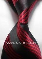 темно-черные с красный новый стиль Лос шелк Classics сплит галстук tie0002