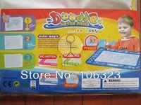 бесплатная доставка, малыш / детские коврик, живопись одеяло, магия воды записи коврик, рисунок игры, коврик + воды ручка, 45 * 30 см, 100% нейлон + губка + АБС