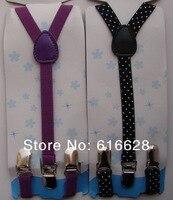 бесплатная доставка 0.6 ' фиолетовый и черный резинка скобки дети / дети приостановить
