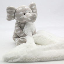 Knited toy Comfort Organic Colored Cotton Elephant Doll Baby Plush Toys Free Shipping