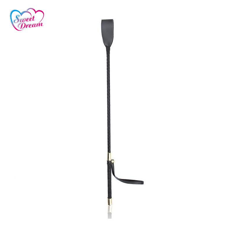 Sweet Dream PU Leather Horse Whip Spanking Knout Sword Handle Fetish Flogger Adult Game Sex Toys For Couple Sex Products DW-110 maryxiong 69cm pu leather fetish bondage sex whip flogger bdsm sex toy for couples spanking paddle sexy policy knout adult games