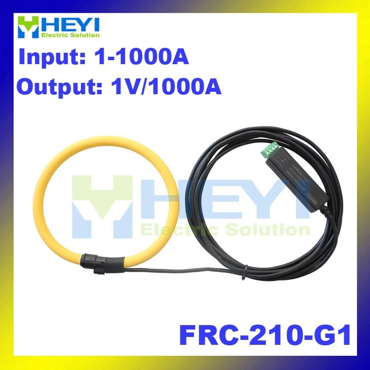 цена на Yellow color rogowski current transformer Input : 1~1000A Output : 1V FRC-210-G1 rogowski probe