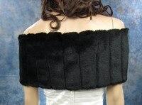 зима теплая черный искусственного меха обертывания плечами свадебные с брошь плащ болеро свадьба украшения торжества / вечернее куртки