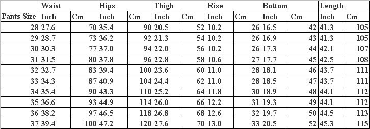 Jacket Size By Height And Weight Mersnoforum