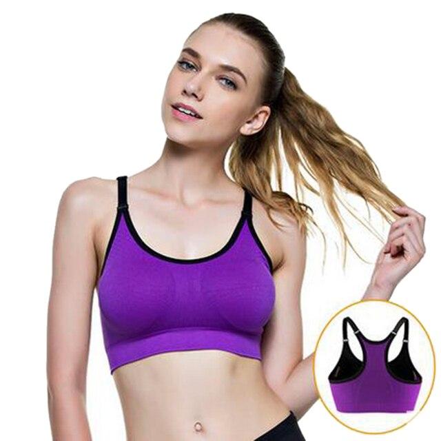 117fa2fc98722 LASPERAL Hot Women Sports Padded Bra Seamless Wirefree Soft Sports Bra  Jogging Breathable Push Up Bra