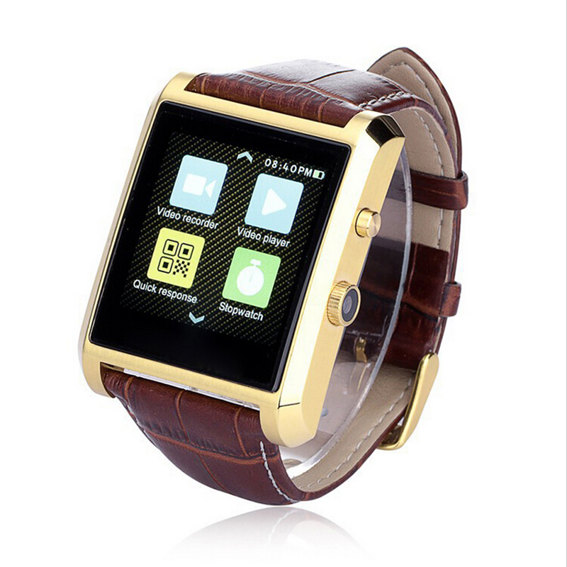 Hot Smart Watch LF06 DM08 Waterproof Leather Antique font b Smartwatch b font Bluetooth Sports Heartrate