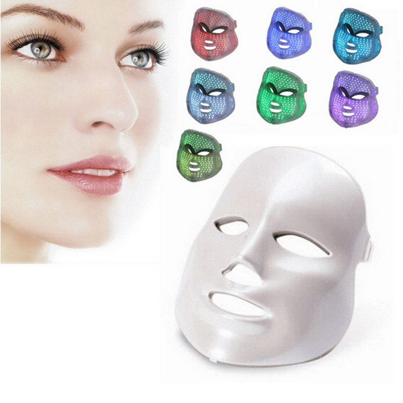 Hot Sale 7 Color Photon Facial colorful Led Mask Rejuvenecimiento Estetica Face font b skin b