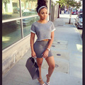 2 unidades de este conjunto falda Top para mujer del estilo del verano para mujer de dos piezas Crop Top y falda Set Sexy Bodycon Mini vestido