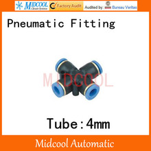 Quick connector PXL-4  tube 4 way pneumatic plastic fittings X type 4mm pneumatic components,air fitting