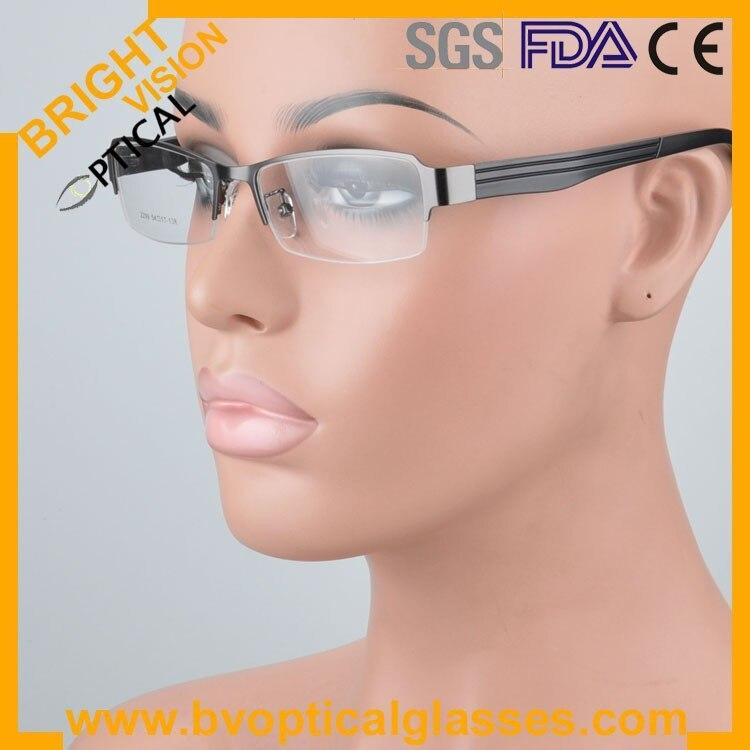 2299greywear Factrory price half rim vintage optical frames eyewear glasses