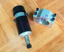 Бесплатная доставка, 1 шт. ER11 патрон 0.3kw шпинделя DC 12-48 ЧПУ 300 Вт шпиндель крепежный кронштейн для двигателя 24 V 36 V для гравирования печатных плат