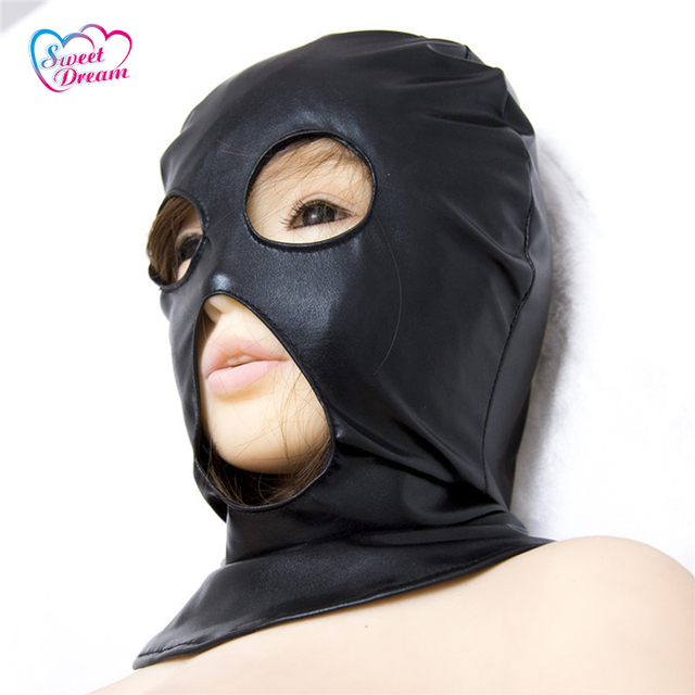 PU Leather Sex Masks/Hoods Open Eyes & Mouth Role Play Adult Game Sex Accessories Sex Tools for Sale Sex Toys For Couple DW-451