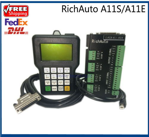 все цены на RichAuto A11 CNC DSP controller A11S A11E 3 axis ,replace DSP 0501 controller for cnc router онлайн