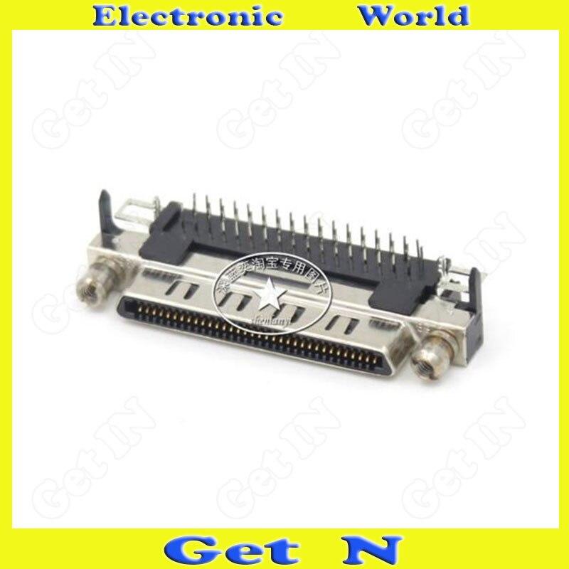 1 pces HMCR68FS-90 placa scsi interface de extremidade fêmea 0.8 intervalo vhdci68 núcleo pcb pino v68 adaptador fêmea