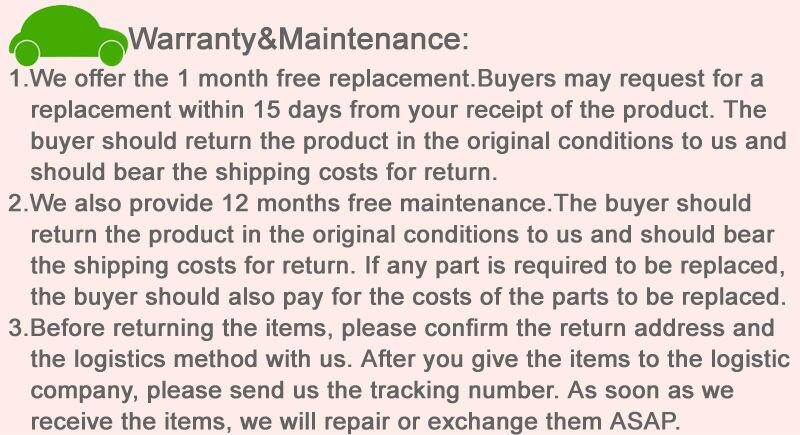Warranty&Maintenance 2