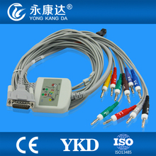 Electrocardiograph 10-lead Schiller EKG cable,AHA,Banana 4.0 mm ,10 kom resistance plug end electrodes cable