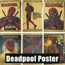 Плакаты Дэдпул Marvel superhero Дэдпул Мэн дешевые декоративные наклейки Райан Рейнольдс Фильмы и Видео
