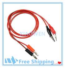 Wires Alligator Banana 1M Probe Tips Fully Insulated Electrical Device Test Lead Clip To Banana Plug Probe Cable For Multimeter