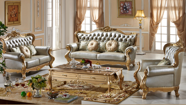 Luxury top quality Classic style leather sofa 0409 135-in