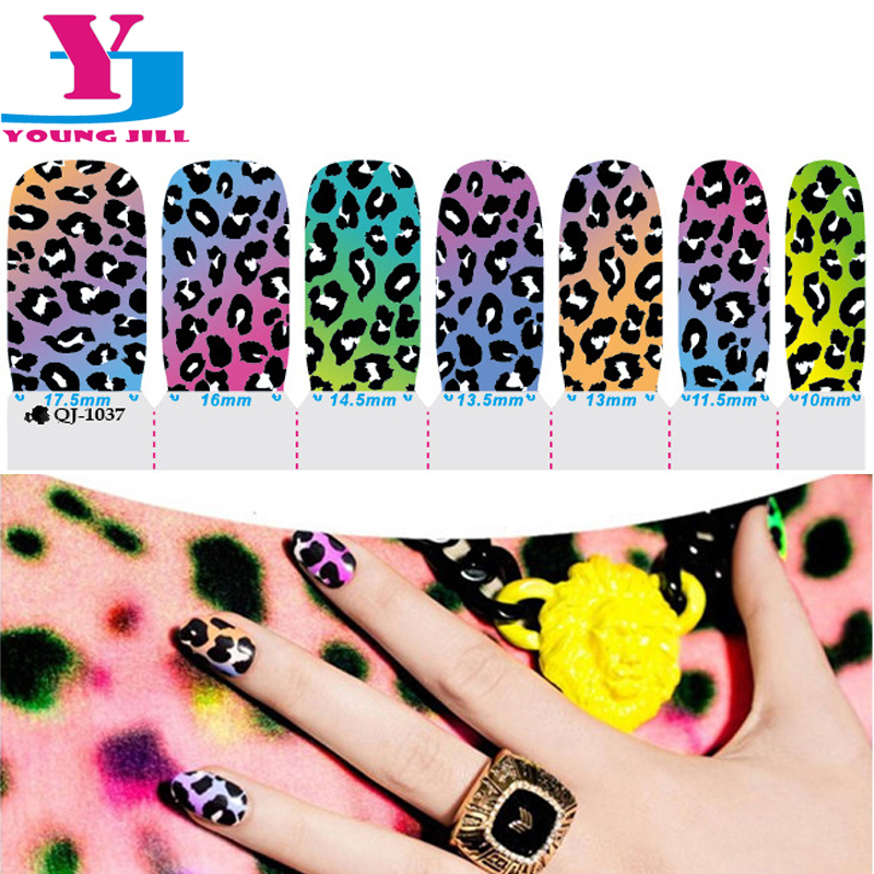 Sexy Leopard Design Nail Art Stickers Gel Polish Spray Wraps