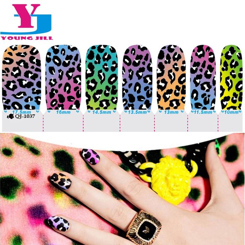 Sexy Leopard Design Nail Art Stickers Gel Polish Spray Wraps