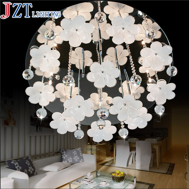 M modern flower shape stainless steel chandelier k9 crystal m modern flower shape stainless steel chandelier k9 crystal chandelier bedroom lamp led ceiling factory direct mozeypictures Gallery