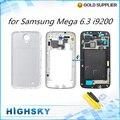 Ferramentas + tampa traseira + quadro médio + lcd painel para Samsung Galaxy i9200 6.3 mega completa habitação bateria doolr 1 peça frete grátis