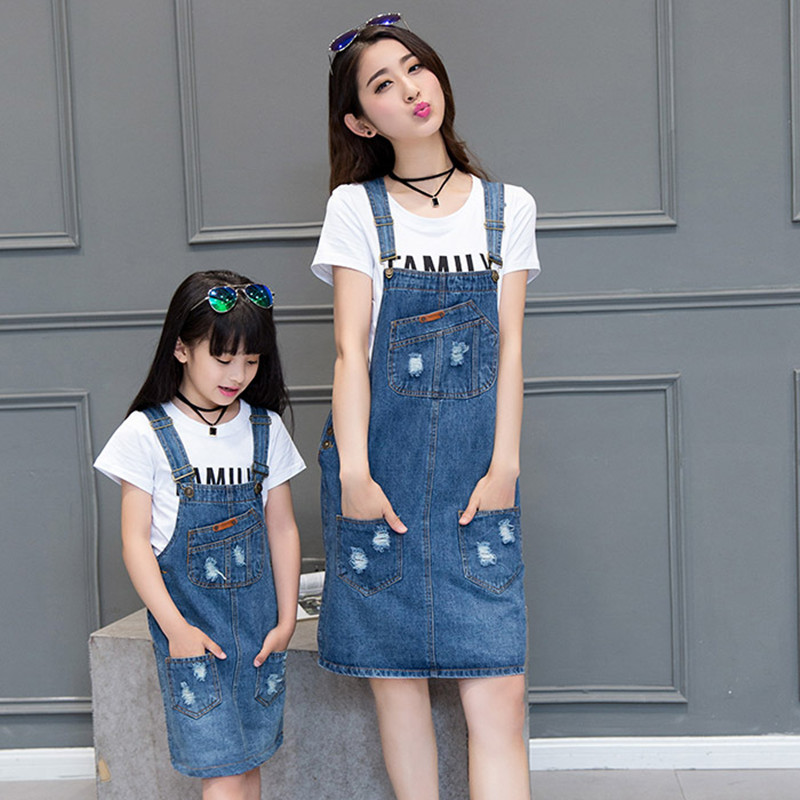 2016 matching mother daughter clothes dresses girls women ...