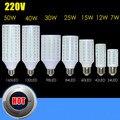 220 В E27 SMD5730 из светодиодов кукурузы 7 Вт 12 Вт 15 Вт 25 Вт 30 Вт 40 Вт 50 Вт лампы осветительная лампа 24 - 165 светод. 5 шт./лот
