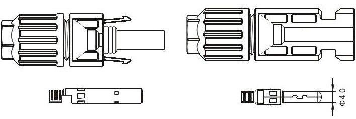 de Extensão com Conectores MC-4 para Os