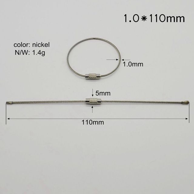 Wholesale Stainless Steel Wire rings for Hiking wire cable loop wire ...