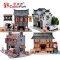 Куб. Весело 3D Головоломки, ручной Мир Стиля DIY Puzzle 3D Модель, китай Аромат Бумаги Развивающие Игрушки Для Детей, рождественские Подарки