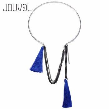 Gargantilla Popular de moda de Metal y cobre, collar para mujer 2017, gargantilla de cuello con colgante, Collares con borlas, joyería N13111