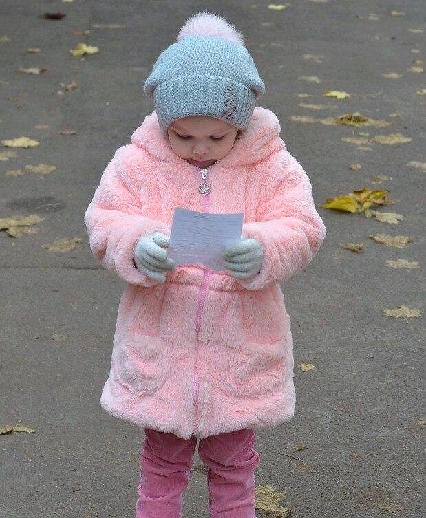 Шубка для девочки из искусственного меха на Алиэкспресс