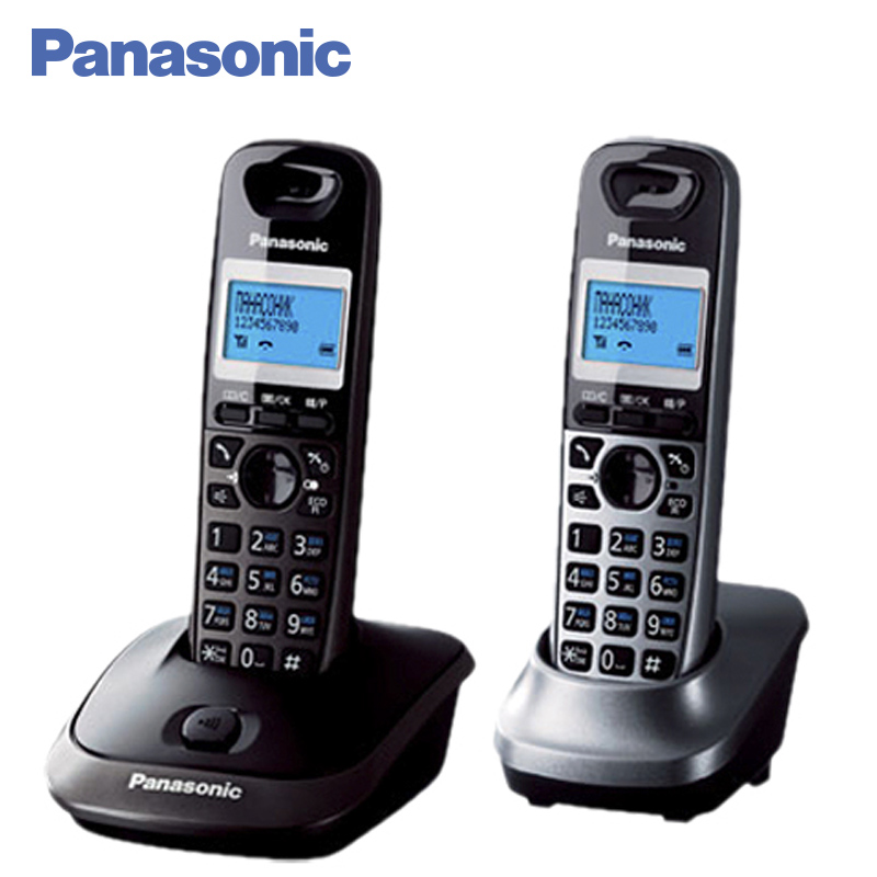 Panasonic KX-TG2512RU2 DECT phone, Additional handset included, Eco-mode, Time / date display, Communication between handsets date week display window full metal quartz watch for women longbo 80145