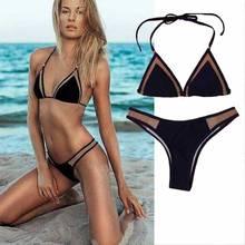 23 COLOR Hot Mesh 2016 Women Sexy Wire Free Black Swimsuit Ladies Hot Sale Bikinis Set Tanga triangle Swimwear Girls New Bikini