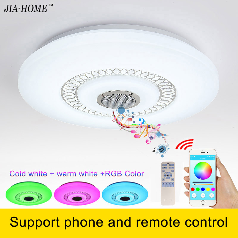 ФОТО  New RGB Dimmable 36W LED ceiling Light support phone and remote control  90-260V modern Led ceiling lamps lamparas de techo