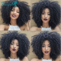 Full Lace Human Hair Wigs Glueless Lace Front Wig Mongolian Afro Kinky Curly Full Lace Wigs Free Shipping 8''-24'' In Stock