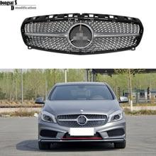 Mercedes W176 алмазы радиатора передняя решетка гонки грили для Benz A CLASS 2013-2015 A180 A200 A250