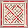 130x130 Cadena de Las Mujeres Pañuelos de Seda Cuadrados Bufanda Patrón de Cadena Simple para Gentlewomen Gran Foulard Nuevo