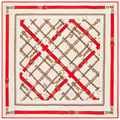 130x130 Strand Women Square Silk Scarves Chain Simple Pattern Scarf for Gentlewomen Large Foulard Brand New