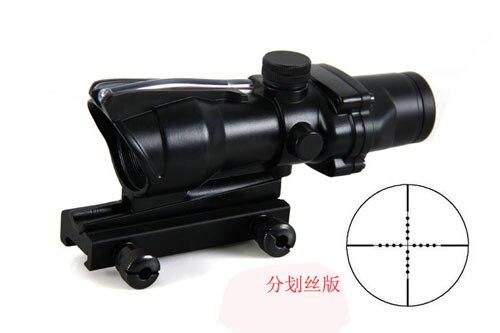 Portée Airsoft 4x32 pour la chasse tir tactique longue portée de fusil à Fiber optique à soulagement des yeux