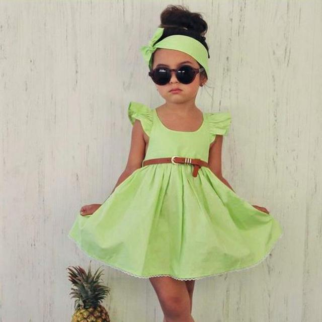 812573c671c296 2-6 jaar Zomer Groen + Navy Mooie Meisjes Peuter Kid Baby Girl Outfit  Kleding
