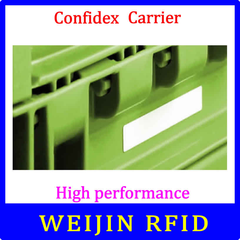 Confidex Carrier  860-960MHZ UHF RFID tag 915M EPC C1G2 ISO18000-6C washable label for plastic containers with strong adhesive 1000pcs long range rfid plastic seal tag alien h3 used for waste bin management and gas jar management